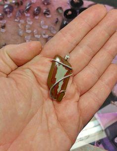 Owyhee Jasper Pendant | Oregon Picture Jasper Pendant | Oregon Picture Jasper Necklace | Sterling Silver Pendant | Owyhee Canyon Jasper by RYWJewelry on Etsy