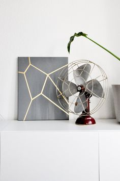 Modern contemporary gold grey painting on canvas by VanDunDesign, €90.00