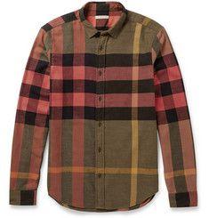 Burberry BritCotton-Flannel Check Shirt