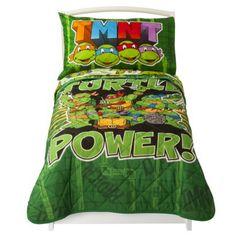 Nickelodeon Teenage Mutant Ninja Turtles 4pc Bed Set - Green (Toddler)