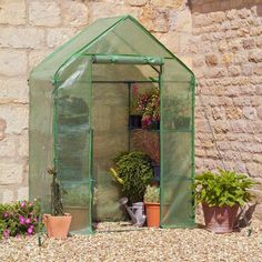 Have to have it. Gardman Walk-In Greenhouse with Staging - $79.99 @hayneedle