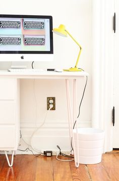 How To Hide Home Wires — Apartment Therapy Tutorials | Apartment Therapy