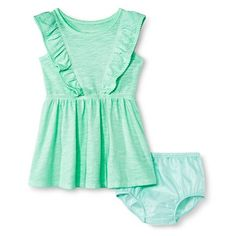 Baby Girls' Slub Knit Dress Green - Cherokee®