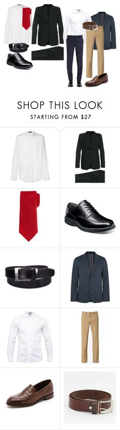 """RAYM"" by gerardrivero ❤ liked on Polyvore featuring Versace, Prada, Neiman Marcus, Nunn Bush, Madison, Paul Smith, Ted Baker, Maison Margiela, Loake and men's fashion"
