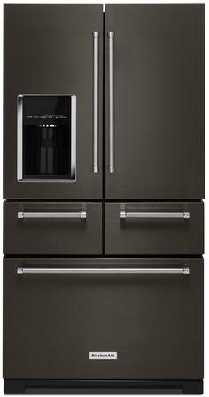 Tasco Appliances   KitchenAid KRMF706EBS 36-Inch Multi-Door Freestanding Refrigerator with Platinum Interior Design 25.8 Cu. Ft.   Tasco Appliances