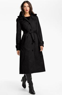 London Fog Long Trench Raincoat (Regular & Petite) available at #Nordstrom