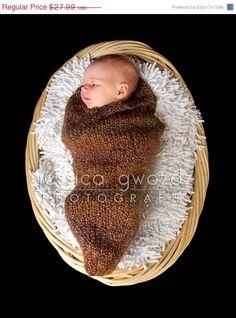 ON SALE Knit Baby Cocoon Newborn Photo Prop by OneDayAtAThyme