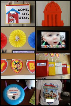 PAW Patrol / Puppy Party- decorations and party favor ideas!