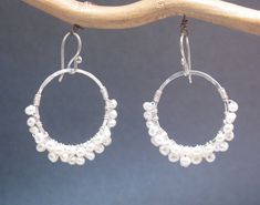 Cosmopolitan 24 Small hammered hoop earrings by CalicoJunoJewelry, $68.00