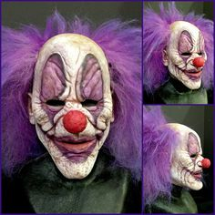 Instagram media by immortalmasks - Whispers the Clown. Silicone Half mask. Available at www.immortalmasks.com #mask #Halloween #haunt #siliconemask #clown #evilclown #smoothon