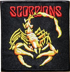 SCORPIONS Heavy Metal Rock Punk Band Logo Music Patch Sew Iron on Embroidered Badge Sign Costume Gift