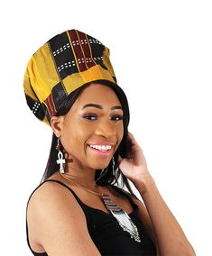 "Nefertiti Crown: Kente #3 Feel like a queen in this traditional Nefertiti Crown. This distinct crown has the same silhouette as the one worn by the famous Egyptian Nefertiti. It has a traditional, multicolored African design that really stands out. The inside of the crown has an elastic band that can fit up to a 24"" head. #africa #african #nefertiti #afrocentric #africanhat #crown #hats #style #fashion #africanstyle #africanfashion"