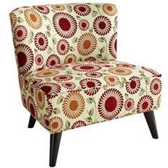 Vintage chair. I could see this in my girls room for their reading nook. One day *sigh*