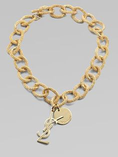 Yves Saint Laurent Textured Links Necklace