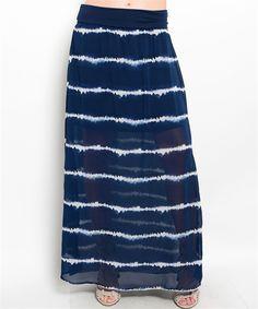 Navy & White Maxi Skirt. Summer fashion 2015. www.psiloveyoumoreboutique.com