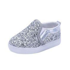 brand new dd5f4 10e04 Slip-On  N  Be Dazzled Toddler Kids LED Luminous Shoes