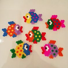 Fishes hama beads by rainbow_ironed