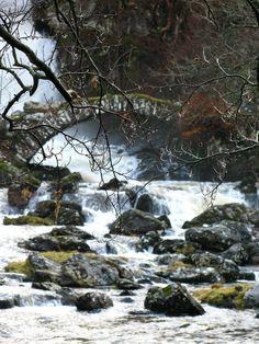 Allt da Ghob waterfall (River Lyon) in Glen Lyon, Scotland