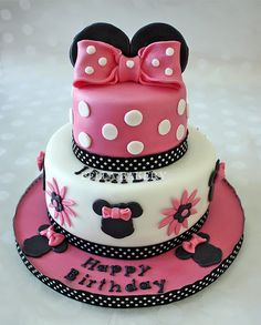 MINNIE MOUSE CAKE small top has my name on it and spelled the right & Simba cake | My Cakes | Pinterest | Best Cake ideas