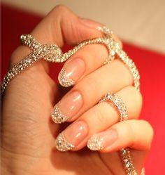 Wedding nails with diamonds - My wedding ideas