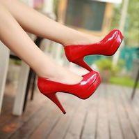 Femmes New Platform Pumps Stiletto Escarpins Party Chaussures de mariage Lager Taille 5-10