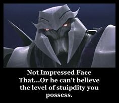 Really face by TheDarkening.deviantart.com on @deviantART. I love that facial expression of Megatron's!