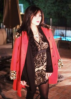 Haute Khuuture blog and my personal style. Features ensembles, shop the look posts, dress to decor. Featuring my Valentines Day ensemble with my Red Leopard Coat