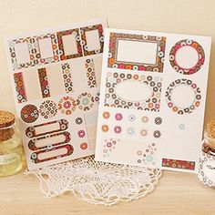 Removable Label Stickers / Vintage Flower - 2 sheets (4.1 x 5.3in) on Etsy, $5.10