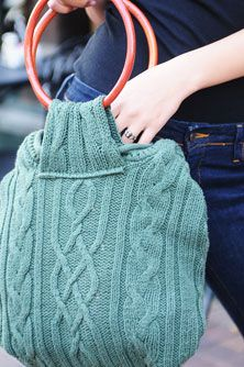 Sweater Purse.... I have some sweaters that don't fit well  ill repurpose them into something I can use :)