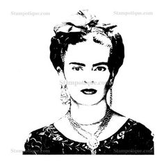 Frida Kahlo Diego Rivera, Frida And Diego, Black And White Makeup, Face Stencils, Kahlo Paintings, Mexican Heritage, Mexico Art, Draw On Photos, Mural Wall Art