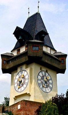 Graz clock tower  Graz, Austria  http://www.travelandtransitions.com/austria-travel/