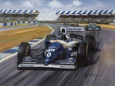 1994 Damon Hill wins the british GP at Silverstone