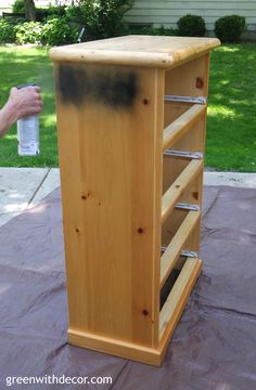 Green With Decor – How to spray paint a dresser