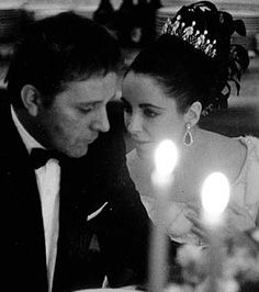 Richard Burton and Elizabeth Taylor * La Dolce Vita'.