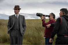 24 July 2019 First photo of James filming Captain Drey from Director Andy Goddard's website. Eddie Izzard, James D'arcy, Finishing School, Judi Dench, First Photo, Thriller, Website, Film, Board