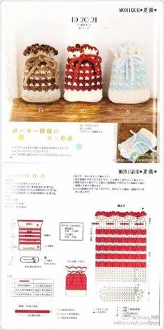 For the counter Crochet Food, Crochet Gifts, Cute Crochet, Crochet Motif, Crochet Patterns, Crochet Bag Tutorials, Crochet Videos, Crochet Pouch, Crochet Purses