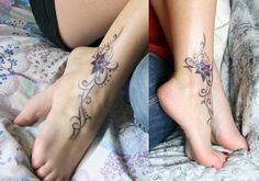 ankle-foot tattoos | Ankle/Foot Tattoo by AmazingA