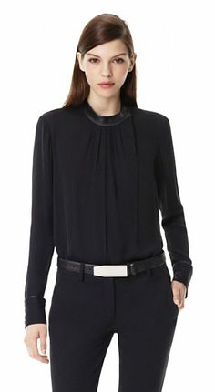 Theory Kyna Double Georgette Silk Top | Theory.com