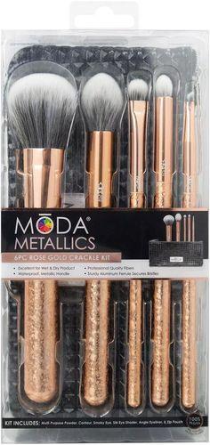 Powder Contour, Brush Sets, Smoky Eye, Wet And Dry, Eyeliner, Lipstick, Rose Gold, Metal, Lipsticks