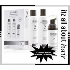 Nioxin System 2 Full Size Kit Fine Natural Hair 2 x S/C & Treatment Fine Natural Hair, Natural Hair Styles, Nioxin System, About Hair, Starter Kit, Ebay, Products, Gadget