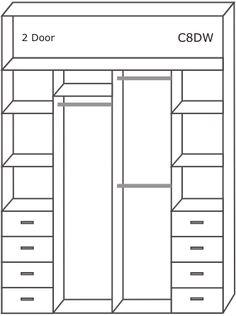 built in storage wardrobes - Google Search
