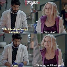 "#iZombie 1x05 ""Flight of the Living Dead"" - Ravi and Liv"