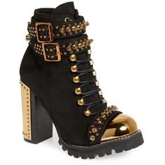 dbff1ab127c1 Women s Jeffrey Campbell Scorpius Armored Lug Boot (5.705 UYU) ❤ liked on Polyvore  featuring · Thick Heel BootsChunky Heel ShoesHeeled ...