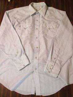 Vintage H Bar C California Ranchwear Pearl Snap Front Western Shirt (Large) #HBARCWESTERNCALIFORNIARANCHWEAR #Western