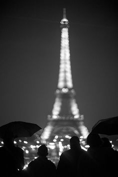 Black & White Photography - Eiffel Tower - Paris, France