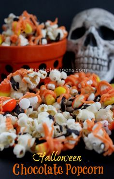 Halloween Chocolate Popcorn #Pintowingifts