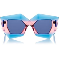 House Of Holland Superhero Tropical Cocktail Sunglasses (255 BRL) ❤ liked on Polyvore featuring accessories, eyewear, sunglasses, glasses, blue, blue glasses, oversized glasses, blue lens glasses, uv protection sunglasses and house of holland