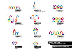 Logo and payoff concept for Bologna city branding by Anna Kőfaragó, via Behance