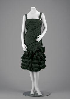 evening dress  retailer Christian Dior Couture  designer Saint Laurent, Yves|French|1936-2008  creation date 1959  materials Silk Taffeta
