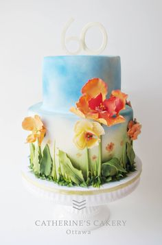 Poppies cake inspired by a painting.